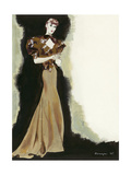 Vogue - March 1935 Regular Giclee Print by Pierre Mourgue