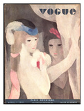 Vogue Cover - April 1931 Gicléetryck på högkvalitetspapper av Marie Laurencin
