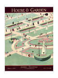 House & Garden Cover - June 1928 Giclee Print by Marion Wildman