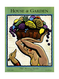 House & Garden Cover - October 1928 Giclee Print by Marion Wildman