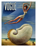 Vogue Cover - July 1937 - Surreal Shell Regular Giclee Print by Miguel Covarrubias
