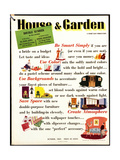 House & Garden Cover - October 1941 Regular Giclee Print by  Garretto