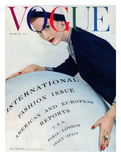 Vogue Cover - March 1953 Regular Giclee Print by Erwin Blumenfeld