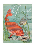 Gourmet Cover - February 1951 Regular Giclee Print by Henry Stahlhut
