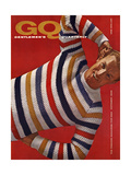 GQ Cover - October 1958 Premium Giclee Print by Leonard Nones