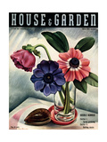 House & Garden Cover - March 1937 Giclee Print by Edna Reindel