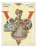 Vogue Cover - September 1913 - All Boxed Up Regular Giclee Print by Frank X. Leyendecker