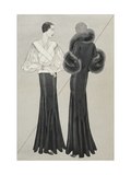 Vogue - January 1933 Regular Giclee Print by Douglas Pollard