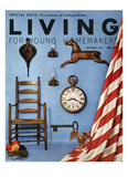 Living for Young Homemakers Cover - September 1958 Regular Giclee Print by Bill Margerin