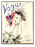 Vogue Cover - April 1937 Regular Giclee Print av Christian Berard
