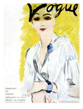 "Vogue Cover - January 1934 Regular Giclee Print by Carl ""Eric"" Erickson"
