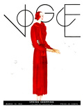 Vogue Cover - March 1931 Giclee Print by Georges Lepape