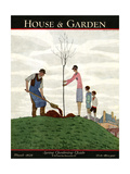 House & Garden Cover - March 1929 Giclee Print by André E. Marty