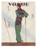 Vogue Cover - December 1928 Regular Giclee Print by Jean Pagès
