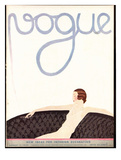 Vogue Cover - August 1930 Giclee Print by André E. Marty