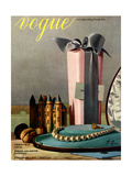 Vogue Cover - December 1937 Giclee Print by Pierre Roy