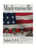 Mademoiselle Cover - July 1951 Regular Giclee Print by Herman Landshoff
