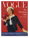 Vogue Cover - March 1957 Regular Giclee Print by Karen Radkai