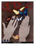 Vogue Cover - November 1931 Regular Giclee Print by Georges Lepape