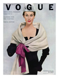 Vogue Cover - November 1952 - Tied with a Bow Regular Giclee Print by Frances Mclaughlin-Gill