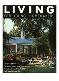 Living for Young Homemakers Cover - April 1958 Regular Giclee Print by Nowell Ward