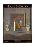 House & Garden Cover - February 1927 Giclee Print by André E. Marty