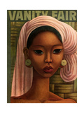 Vanity Fair Cover - February 1936 Regular Giclee Print by Miguel Covarrubias