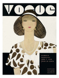 Vogue Cover - June 1930 Giclee Print by Harriet Meserole