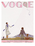 Vogue Cover - September 1928 Giclee Print by Georges Lepape