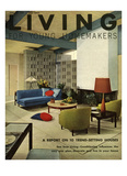 Living for Young Homemakers Cover - January 1958 Regular Giclee Print by George De Gennaro