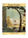 House & Garden Cover - January 1918 Regular Giclee Print by Porter Woodruff