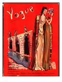 Vogue Cover - October 1937 Regular Giclee Print av Christian Berard