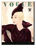 Vogue Cover - September 1933 Regular Giclee Print by Jean Pagès