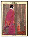 Vogue Cover - January 1923 Giclee Print by Georges Lepape