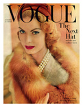 Vogue Cover - August 1957 Regular Giclee Print by Horst P. Horst