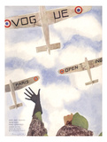 Vogue Cover - March 1932 Regular Giclee Print by Pierre Mourgue