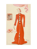 Vogue - October 1935 Regular Giclee Print by Christian Berard