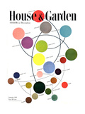 House & Garden Cover - September 1948 Regular Giclee Print by Herbert Matter