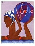 Vogue Cover - June 1927 Giclee Print by Eduardo Garcia Benito