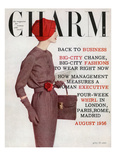 Charm Cover - August 1956 Regular Giclee Print by Louis Faurer