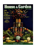 House & Garden Cover - January 1943 Giclee Print by Fredrich Baker