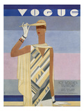Vogue Cover - July 1928 Giclee Print by Eduardo Garcia Benito