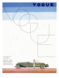 Vogue Cover - June 1930 - Summer Travel Regular Giclee Print van Georges Lepape