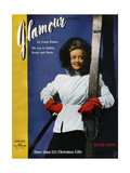Glamour Cover - January 1941 Regular Giclee Print by John Rawlings