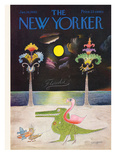The New Yorker Cover - January 16, 1965 Reproduction procédé giclée par Saul Steinberg
