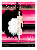 Vogue Cover - October 1925 Regular Giclee Print by William Bolin