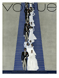 Vogue Cover - February 1931 Regular Giclee Print by Pierre Mourgue