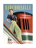 Mademoiselle Cover - January 1939 Regular Giclee Print by Paul D'Ome