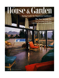 House & Garden Cover - April 1954 Regular Giclee Print by Julius Shulman