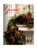 Gourmet Cover - December 1989 Regular Giclee Print by Romulo Yanes